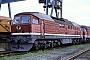 """LTS 0142 - DR """"131 028-3"""" 22.06.1991 - Halle (Saale), Bahnbetriebswerk GD. Holz (Archiv Werner Brutzer)"""