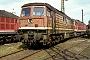 """LTS 0170 - DR """"131 056-4"""" 28.09.1991 - Halle (Saale), Bahnbetriebswerk GH. Heiderich (Archiv Werner Brutzer)"""