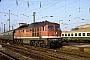 """LTS 0218 - DR """"232 028-1"""" 22.04.1993 - Leipzig, HauptbahnhofM. Schröder (Archiv Werner Brutzer)"""