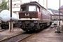 """LTS 0220 - DR """"132 030-8"""" 15.06.1991 - Eisenach, BetriebswerkH. Heiderich (Archiv Werner Brutzer)"""