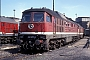 """LTS 0292 - DR """"232 077-8"""" 17.05.1992 - Halberstadt, BetriebswerkW. Ragg (Archiv Werner Brutzer)"""