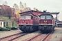 """LTS 0311 - DR """"132 096-9"""" 03.11.1990 - Adorf, EinsatzstelleMichael Uhren"""