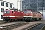 """LTS 0345 - DR """"132 129-8"""" 09.05.1991 - Magdeburg, Bahnbetriebswerk HauptbahnhofWerner Brutzer"""