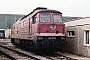 """LTS 0345 - DR """"132 129-8"""" 11.04.1989 - Neustrelitz, BetriebswerkMichael Uhren"""
