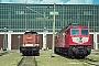 """LTS 0358 - DB AG """"232 142-0"""" 10.08.1997 - Neustrelitz, Betriebswerk HauptbahnhofMichael Uhren"""