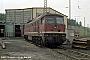 """LTS 0389 - DR """"132 173-6"""" 31.05.1990 - Blankenburg (Harz), BetriebswerkNowottnick (Archiv D. Bergau)"""
