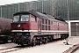 """LTS 0526 - DR """"132 314-6"""" 11.04.1989 - Neustrelitz, BetriebswerkMichael Uhren"""