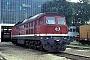 """LTS 0054 - DR """"130 052-4"""" 09.08.1991 - Neustrelitz, BahnbetriebswerkD. Holz (Archiv Werner Brutzer)"""