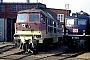 """LTS 0636 - Wismut """"V 300 001"""" 24.04.1997 - Cottbus, AusbesserungswerkG. Kammann (Archiv Werner Brutzer)"""