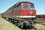"""LTS 0916 - DR """"132 635-4"""" 06.07.1991 - Halberstadt, BahnhofNorbert Schmitz"""