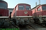 "LTS 0950 - DR ""132 668-5"" 21.09.1991 - Halle (Saale), Betriebswerk GNorbert Schmitz"